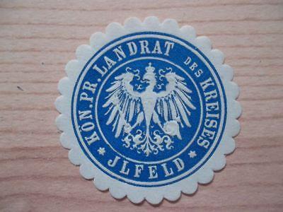 Landrat Des Kreises Ilfeld Um Zu Helfen Siegelmarke Fettiges Essen Zu Verdauen 11964 UnabhäNgig
