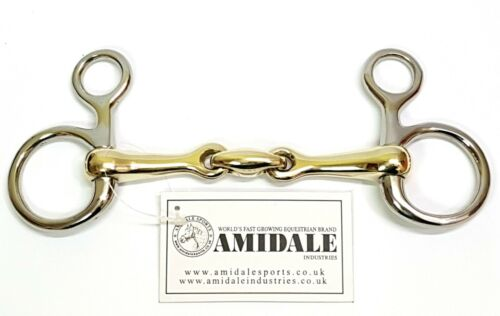 STEEL COPPER MIX BNWT AMIDALE HANGING CHEEK LOZENGE BAUCHER HORSE BIT S