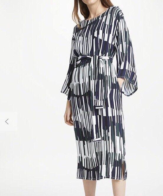 John lewis Kin Shuya Print Waist Tie Dress, Multi Multi Multi Size 8 RRP Box56 dc8090
