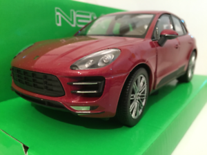 Porsche Macan Turbo 2014 röd - Echelle 1 24 Welly 24047R