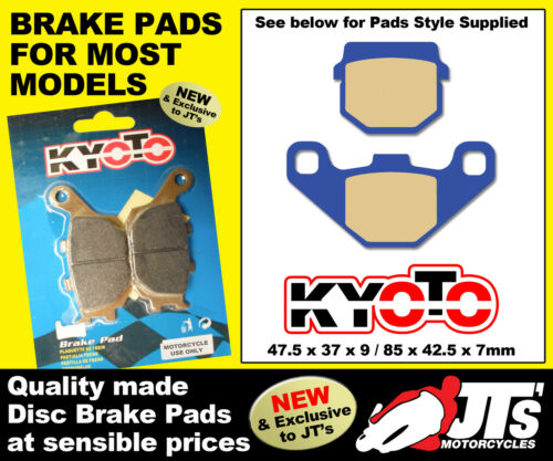 REAR SET OF DISC PADS BRAKE PADS TO SUIT TGB R 125 R125 X Bullet 08-09