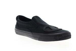 Champion-Metro-Slip-On-CP100623M-Mens-Black-Canvas-Sneakers-Shoes