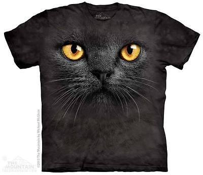 The Mountain BIG FACE BLACK CAT Adult Men T-Shirt S-2XL Short Sleeve