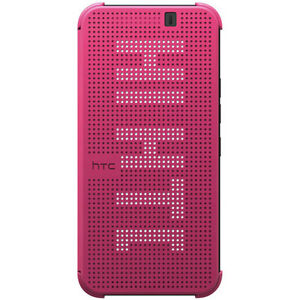 NEW-OFFICIAL-HC-M231-HTC-ONE-M9-DOT-VIEW-FLIP-SHELL-CASE-COVER-PINK-99H20113-00