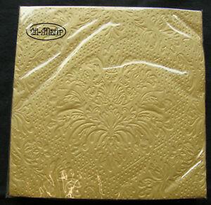 40-X-Luxus-Gepraegt-Gold-Serviette-3-Ply-Qualitaet-Geburtstag-Hochzeit-50th