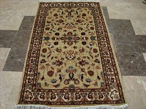 Ivory Touch Exclusive Oriental Area Rug Hand Knotted Wool Silk Carpet (5 x 3)'