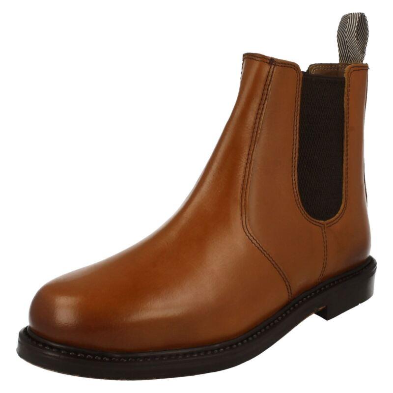 1700- Herren Catesby Leder Hellbraun Anziehen Knöchel Stiefel Toller Preis