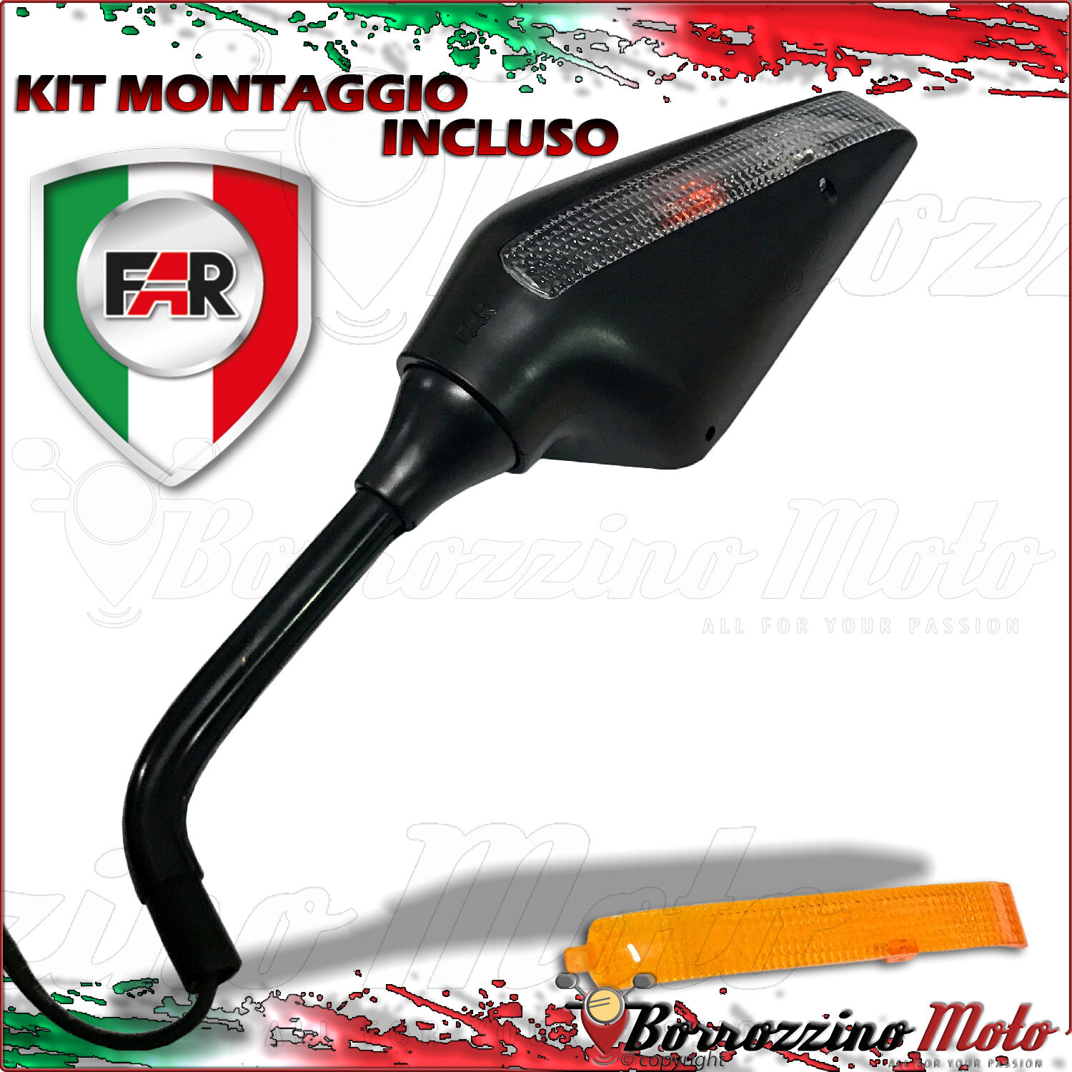 Dlll 2/ x Fit lama laterale specchietto retrovisore per moto Street standard Naked Bike Cruiser chopper Fits 8/ mm 10/ mm bulloni di fissaggio