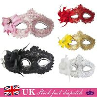 Crystal Lace Plastic Mask Venetian Style Masquerade Fancy Dress Ball Carnival
