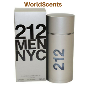 Sealed Gift Carolina Herrera 212 NYC Men's Perfume Fragrance EDT 3.4oz/100ml