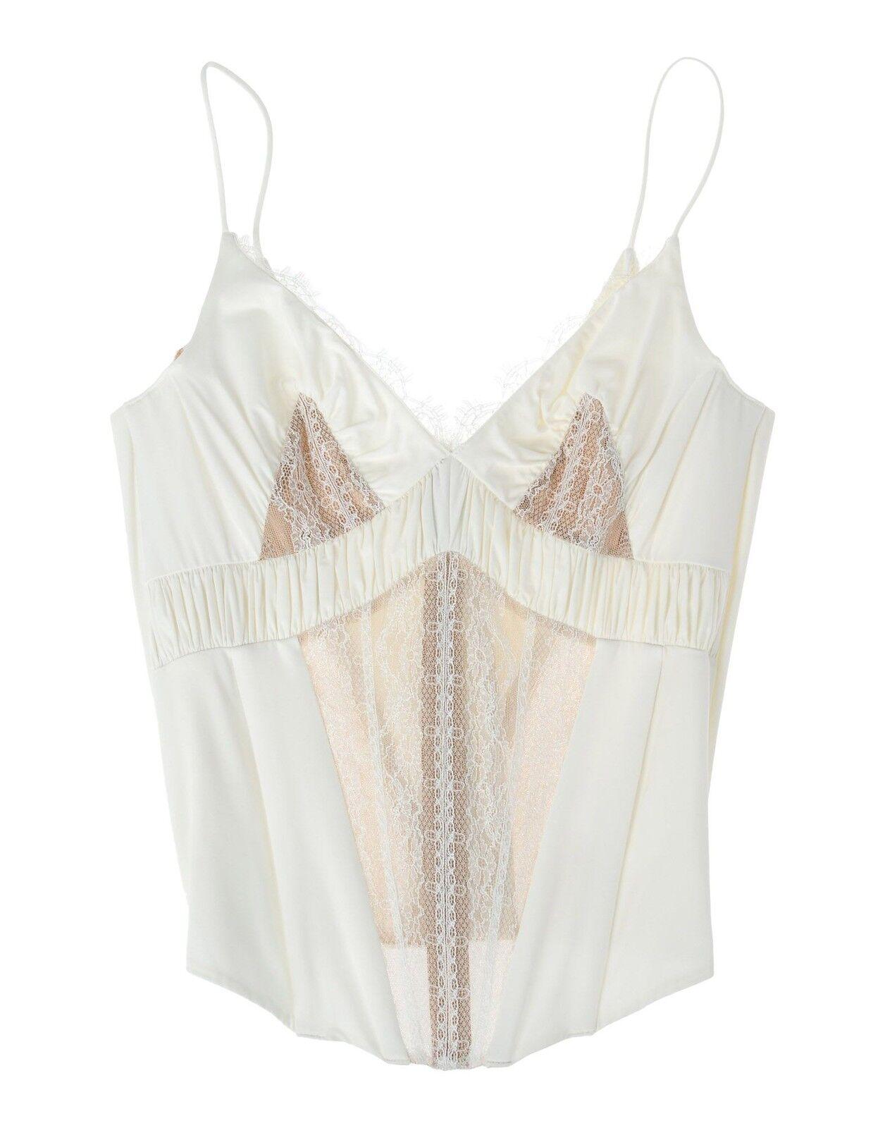 La Perla Treasure Collection Ivory Lace Victorian Style Bustier Cami Top 34B