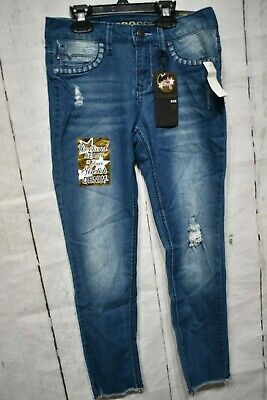VIGOSS Girls Ankle Skinny Jeans
