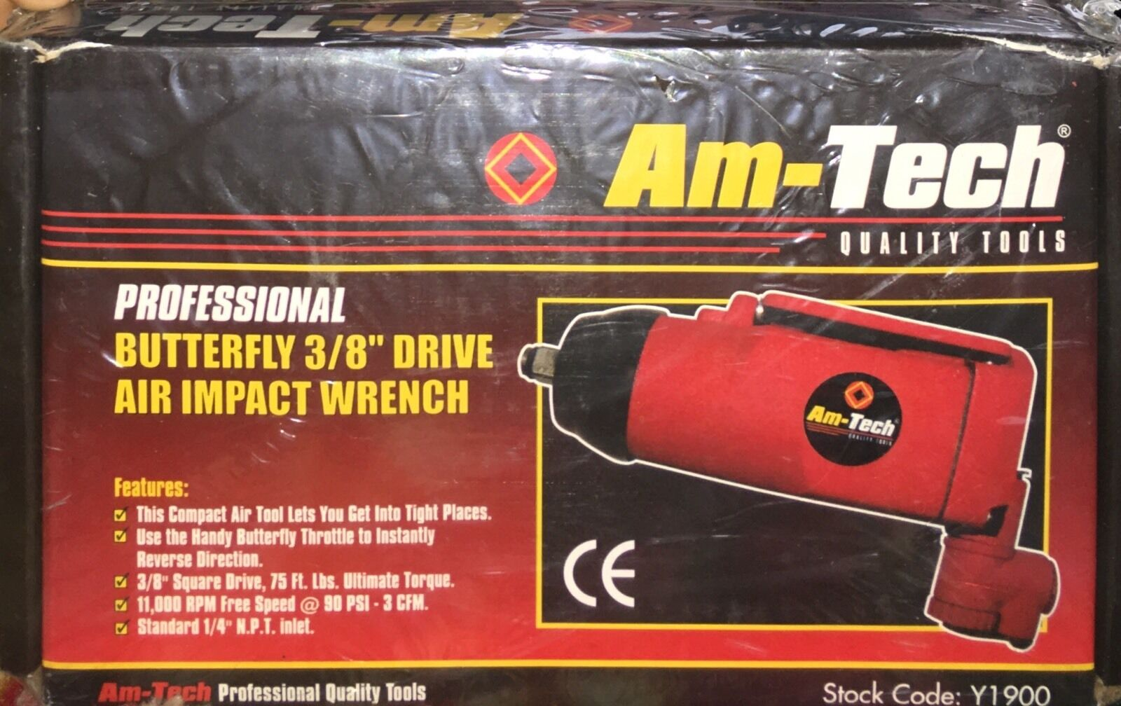 Am-Tech Y1900 3//8-inch Professional Butterfly Drive Air Impact Wrench