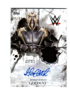 WWE-Goldust-2018-Topps-Undisputed-Autograph-Relic-Card-SN-55-of-99