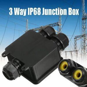 3-Wege-Verteilerbox-IP68-Wasserdicht-Kabelsteckverbinder-Aussen-Anschlussdose