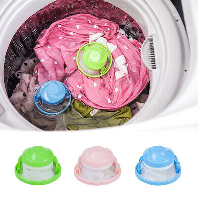 1PC Floating Pet Fur Catcher Laundry Hair Catcher Remover Hair Lint Reusable