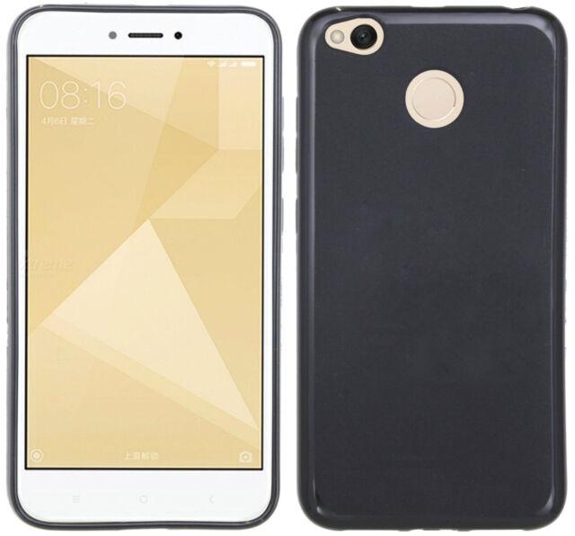XIAOMI Redmi 4X // Schale Handyhülle Tasche Silikonschutz Gel Case in Schwarz