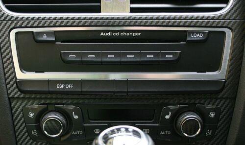 Audi A4 A5 S4 RS4 S5 RS5 Alu Zierrahmen CD-Wechsler Quattro S-line 8K B8 8T 8F