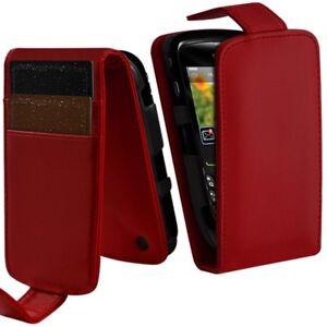 Housse-Coque-Etui-Portefeuille-Couleur-Rouge-pour-Blackberry-Curve-8520