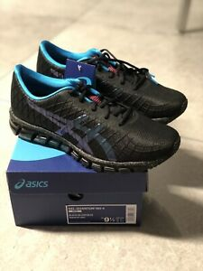 Details about Asics Men's Gel Quantum 180 4 Running Shoes 1021A147 Black Island Blue 9.5