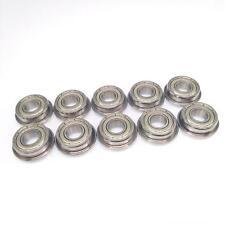 10 X F698zz Mini Metal Double Shielded Flanged Ball Bearings 8mm19mm6mm