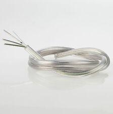 PVC-Lampen-Kabel Elektrokabel Leuchten transparent 3-adrig Stahlseil Stromkabel
