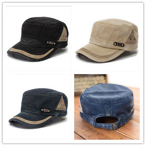 3d82fae4dccba Image is loading Adjustable-Classic-Army-Plain-Vintage-Hat-Cadet-Military-
