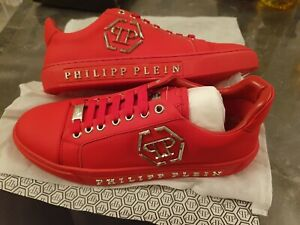 Chaussure basket shoes homme taille 42 neuf philipp plein rouge