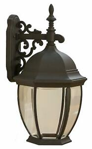 CORAMDEO-Outdoor-Extra-Large-Hex-Curved-Glass-LED-Wall-Lantern-Black-Finish