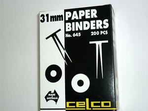 Celco-Paper-Binders-No-645-31mm-box200pcs-silver-metal-for-document-file-binding