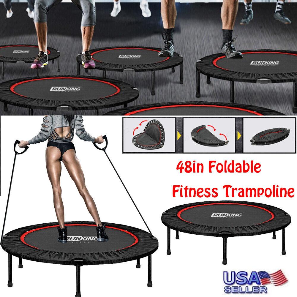 "48"" Mini Rebounder Trampoline Exercise Fitness Gym Bouncer M"