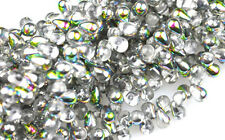 100 Crystal Vitral Glass Tear Drop Beads 6MM