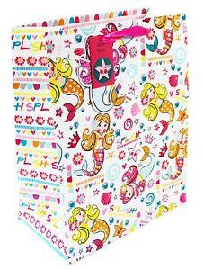 Image Is Loading Large Gift Bag Girls Kids Mermaid Cute Birthday