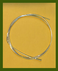 925 silver round wire gauge 17 for jewelry making 2 ft ebay image is loading 925 silver round wire gauge 17 for jewelry greentooth Gallery