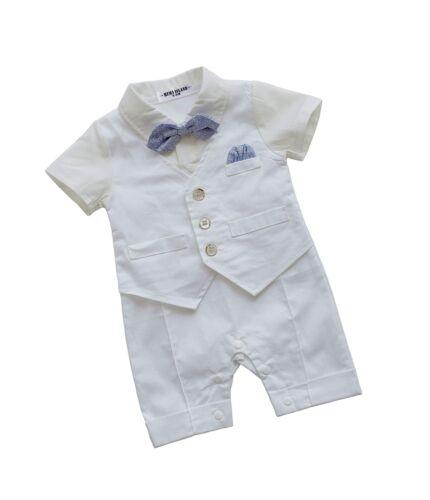 HeMa Island HMD Baby Boy Gentleman White Shirt Waistcoat Bowtie.. Free Shipping