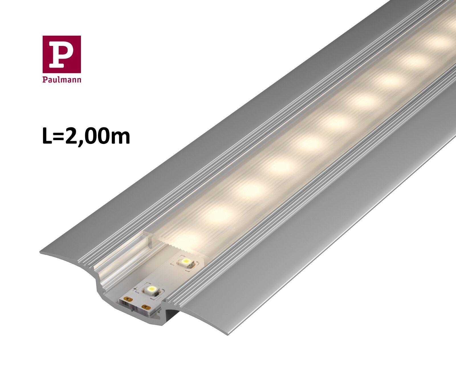 Paulmann Step LED Bodenübergangs Bodenübergangs Bodenübergangs Profil mit Diffusor in 1 bis 2m Alu eloxiert  | Online Outlet Shop  74d2e0