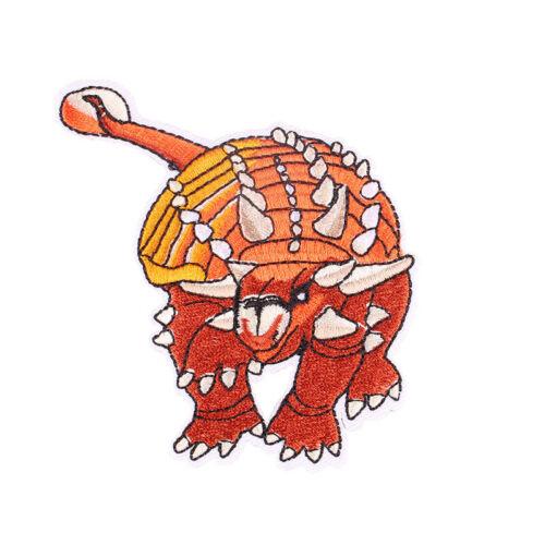 Le Ankylosaure brodé Iron//sew on patch kids /'Tissu Applique 8x10cm