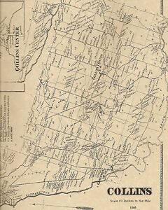 Details about Collins Gowanda Iroquois Clarence NY 1866 Maps with  Homeowners Names Shown