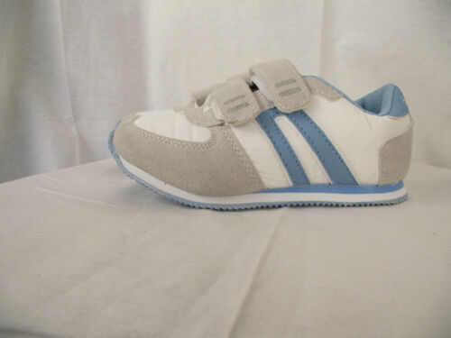 BNWT Little Girls Sz 7 Rivers Doghouse Blue and White Tab Athletic Jogger Shoes
