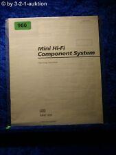 Sony Bedienungsanleitung MHC 550 Mini Hifi Component System (#0960)