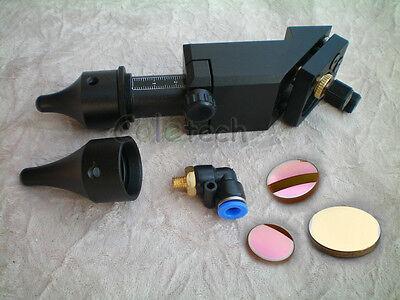 "HQ CO2 Laser Head Mirror Lens Integrative Mount &Lens & mirrors FL: 1.5"" to 4"""