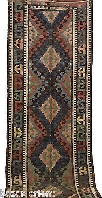360x129 cm antik orient Teppich kaukasische Nomaden Sanne kelim kilim Nr-442