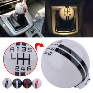 White Mustang Shelby Cobra GT 500 5 Speed White//Black//Red Manual Gear Shift Knob Shift Knob