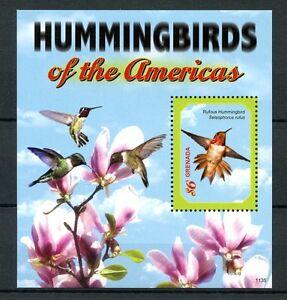 Grenade-2011-neuf-sans-charniere-colibris-des-ameriques-1v-s-s-rufous-hummingbird-oiseaux-timbres