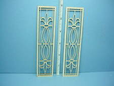 Dollhouse Miniature Decorative French Door Mullions Pr #K-F Laser Creations 1/12