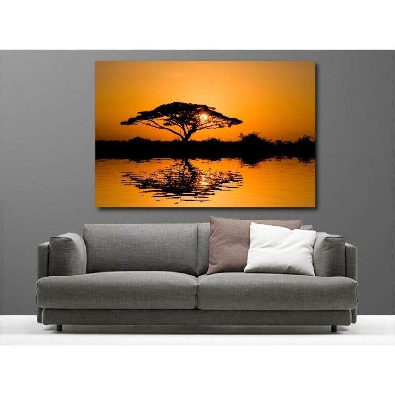 Canvas Fabric Deco Rectangle Lying Sunset 2504007