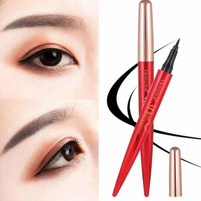 1PC Waterproof Red tube Eyeliner Pencil Hours Long Lasting Natural Fiber Good