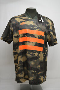 adidas Men's Soccer Tan AOP Graphic Jersey Trace Khaki /Solar ...