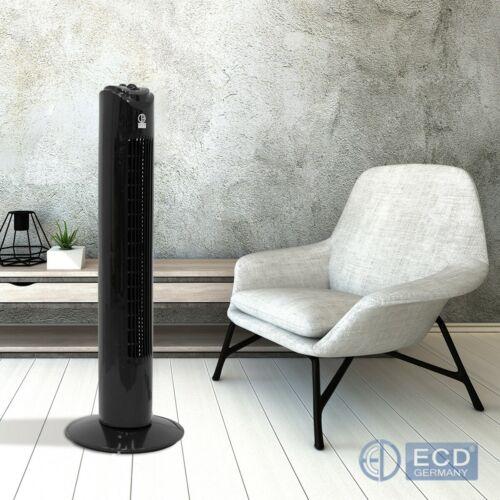 Ventilatore a torre colonna oscillante 45 W altezza 81 cm con 3 modalità nero