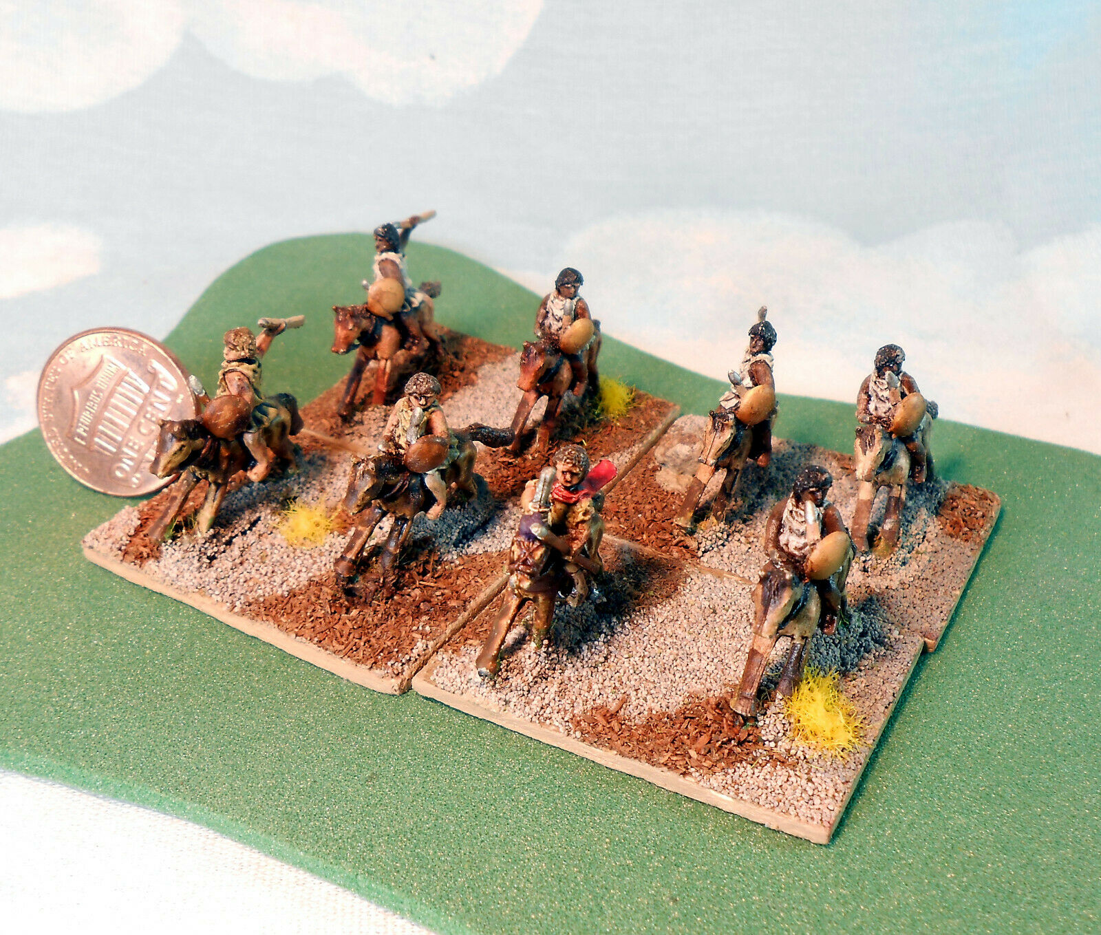 Light Horse LH DBA 15mm numidian or morish light horse painted by johnnyjukey